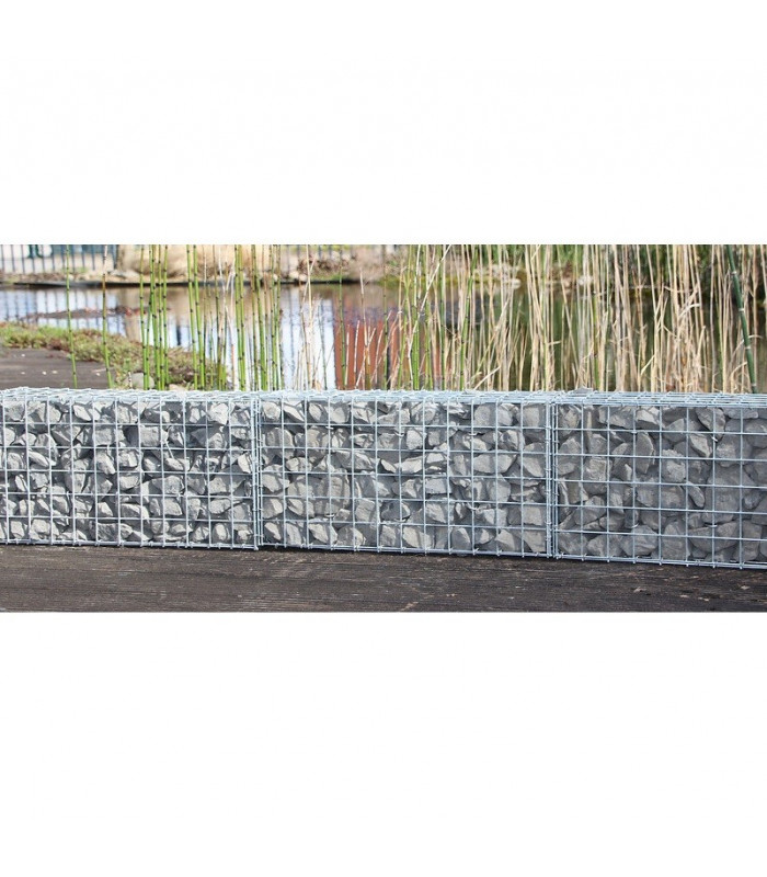 Gabion d cor cube 120 x 60 cm cloture discount for Portillon 1m20 hauteur